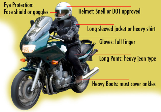 Motorcycle Safety Gear >> For Your Safety Suit Up Before You Head Out Approved Course